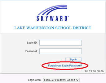 Forgot your Login/Password Image