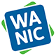 "WANIC logo: blue square that says ""WANIC"" on a green square"